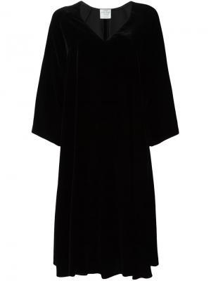Платье с V-образным вырезом Forte. Цвет: чёрный