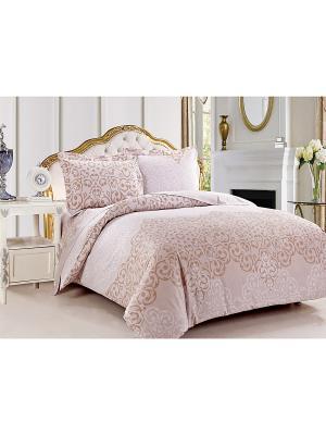 Комплект постельного белья 2сп Jardin. Цвет: бледно-розовый
