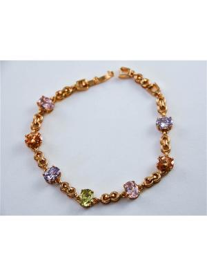 Браслет Miss Bijou. Цвет: золотистый, розовый, салатовый, светло-голубой, светло-желтый