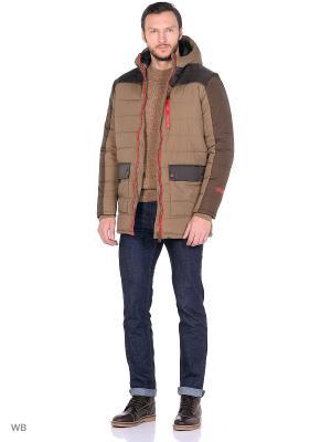 Куртка F5. Цвет: темно-коричневый, темно-бежевый