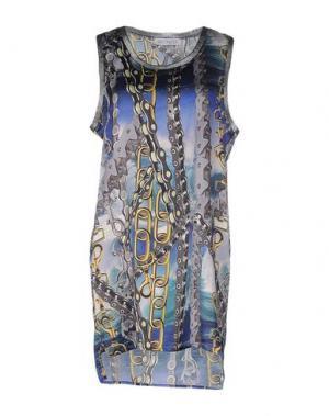 Короткое платье LEITMOTIV. Цвет: серый