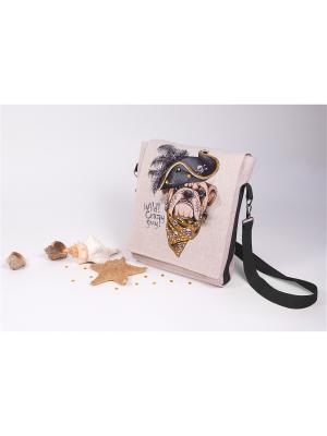 Набор для шитья и вышивки текстильная сумка- планшет Пират Матренин Посад. Цвет: серый, бежевый, коричневый, черный