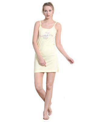 Ночная сорочка Vienetta Secret. Цвет: желтый