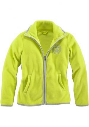 Куртка с начесом Kangaroos. Цвет: цвет лайма
