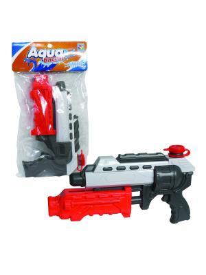 Водный пистолет Аквамания, помповый, 32см, пакет 1Toy. Цвет: прозрачный