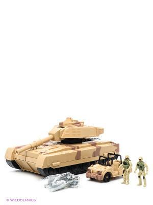 Набор-трансформер Танк  - Командный пункт Пламенный мотор. Цвет: бежевый, коричневый