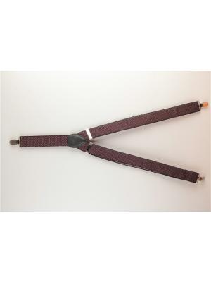 Подтяжки INDIVIDUUM. Цвет: бордовый, коричневый