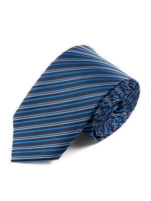 Галстук Pierre Lauren. Цвет: белый, синий, голубой