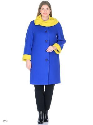 Пальто Леди Шарм. Цвет: синий