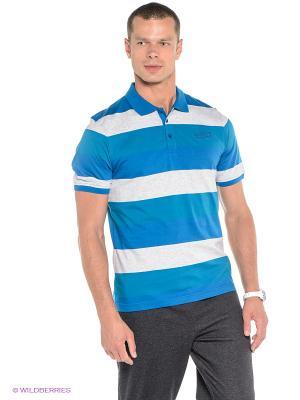 Футболка-поло ANTA. Цвет: светло-серый, синий, бирюзовый