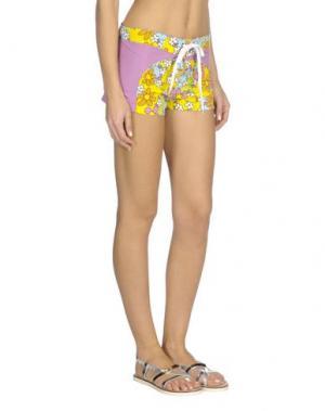 Пляжные брюки и шорты WKK. Цвет: светло-фиолетовый