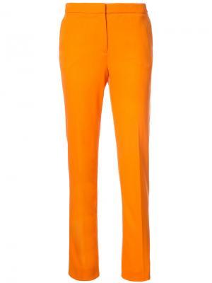 Брюки скинни Oscar de la Renta. Цвет: жёлтый и оранжевый