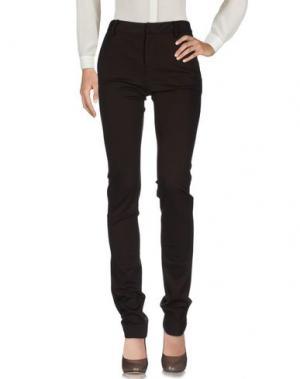 Повседневные брюки EMANUEL UNGARO. Цвет: темно-коричневый