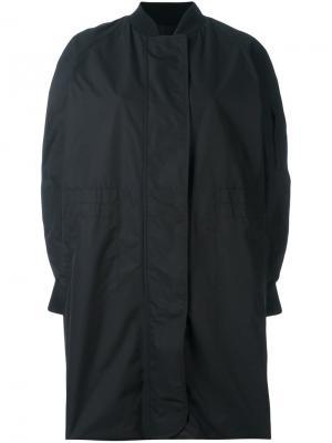 Объемное пальто Ahirain. Цвет: чёрный
