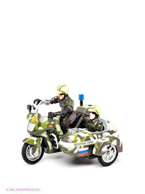 Мотоцикл с люлькой Технопарк. Цвет: зеленый