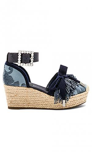 Обувь на танкетке maggie Marc Jacobs. Цвет: синий