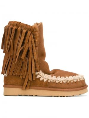 Ботинки Eskimo Fringe Mou. Цвет: коричневый