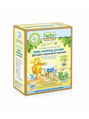 Детский стиральный порошок BABYLINE NATURE на основе натуральных ингредиентов 900 гр. 20 стирок. Цвет: желтый