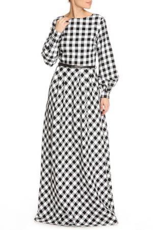 Платье макси NATALIA PICARIELLO. Цвет: белый, черный