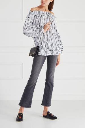 Хлопковая блузка Mixer. Цвет: белый