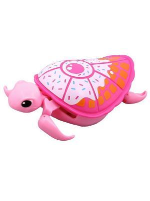 Интерактивная черепашка Little Live Pets Третья серия Розовая с белым панцирем Moose. Цвет: розовый