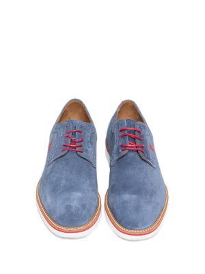 Туфли U.S. Polo Assn.. Цвет: голубой
