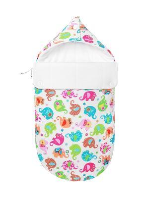 Конверт для новорождённого Хортон (зимний) MIKKIMAMA. Цвет: розовый, белый, салатовый, голубой