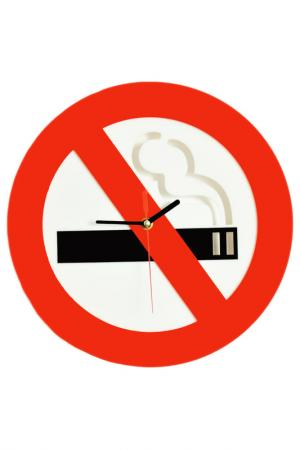 Часы Не курить W-ERA. Цвет: красный, белый