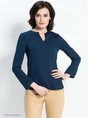Блузка ZARINA. Цвет: темно-синий