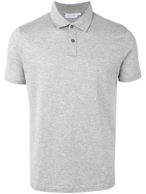 Рубашка-поло с короткими рукавами Sunspel. Цвет: серый