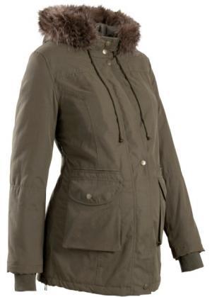 Мода для беременных: куртка с капюшоном (темно-оливковый) bonprix. Цвет: темно-оливковый