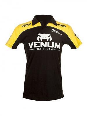 Футболка-поло Venum Lyoto Machida UFC Edition - Black/Yellow. Цвет: черный, желтый