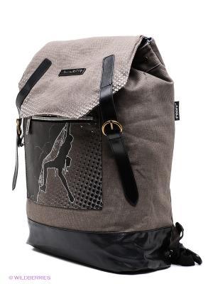 Рюкзак PROFF. Цвет: коричневый, серый