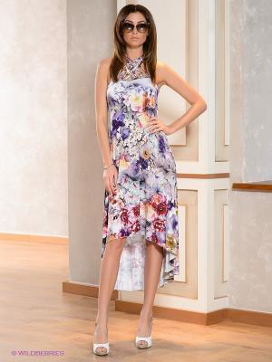Платье МадаМ Т. Цвет: фиолетовый, белый, бордовый, сиреневый