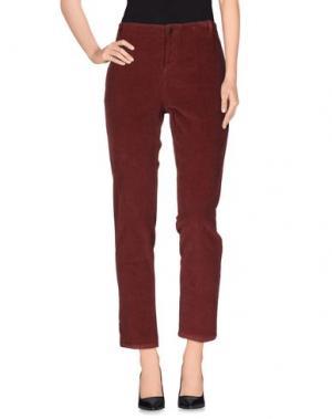 Повседневные брюки ZHELDA. Цвет: красно-коричневый