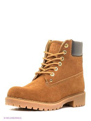 Ботинки XTI. Цвет: коричневый, оранжевый