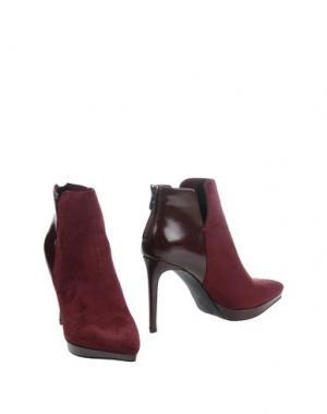 Полусапоги и высокие ботинки FRANCESCO MILANO. Цвет: красно-коричневый