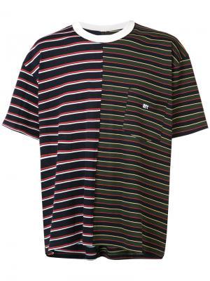 Полосатая футболка с нагрудным карманом Mr. Completely. Цвет: многоцветный