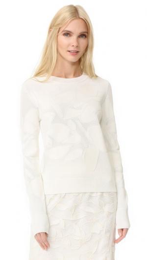 Текстурированный пуловер Grey Jason Wu. Цвет: белая основа