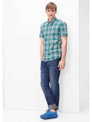 Рубашка Regular Fit S.OLIVER. Цвет: зеленый, белый