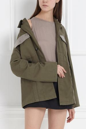 Хлопковая куртка Libertine. Цвет: хаки