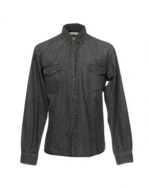Джинсовая рубашка GOLDEN GOOSE DELUXE BRAND. Цвет: стальной серый