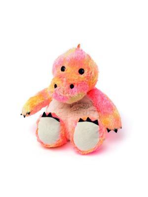 Игрушка-грелка Радужный Динозавр Warmies. Цвет: оранжевый