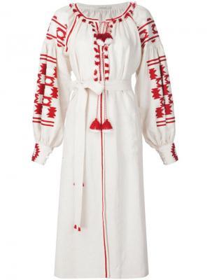 Платье с декоративными кисточками Vita Kin. Цвет: белый