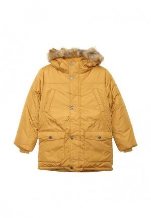 Куртка утепленная Button Blue. Цвет: коричневый
