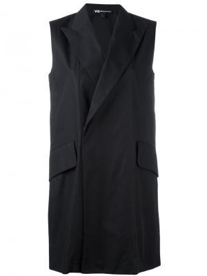 Удлиненный пиджак Y-3. Цвет: чёрный