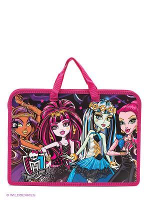 Папка для тетрадей Monster High Centrum. Цвет: фиолетовый, розовый
