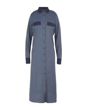 Платье длиной 3/4 YES ZEE by ESSENZA. Цвет: синий
