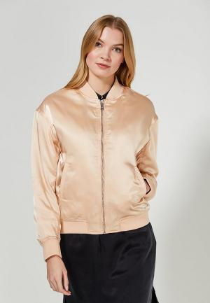 Куртка утепленная Calvin Klein Jeans. Цвет: бежевый