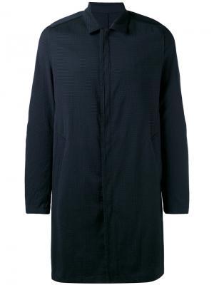 Классическое пальто на пуговицах Wooyoungmi. Цвет: синий